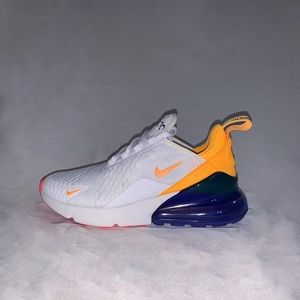 Nike Air Max 270 white orange-blue women's SIZE 6